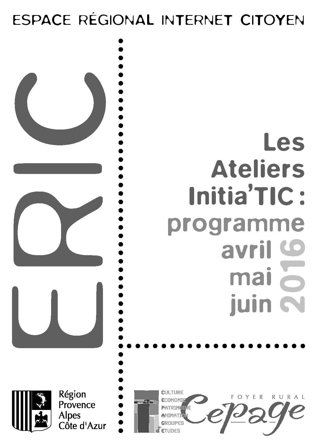 ateliers initia u2019tic 2016