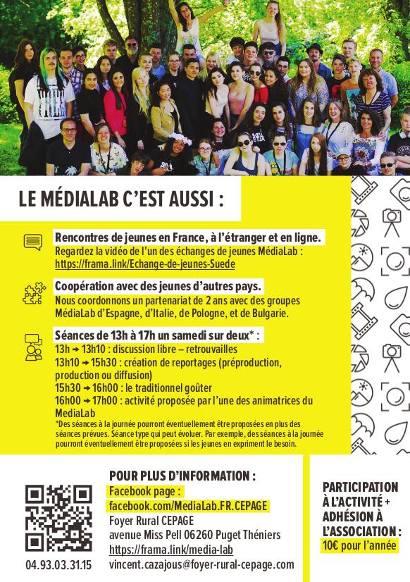 Flyer MédiaLab verso