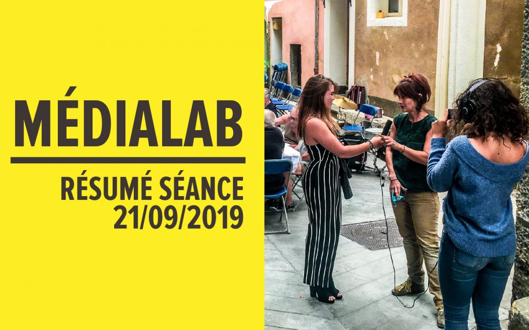 Résumé séance MédiaLab – 21 septembre 2019 [FR/ENG]