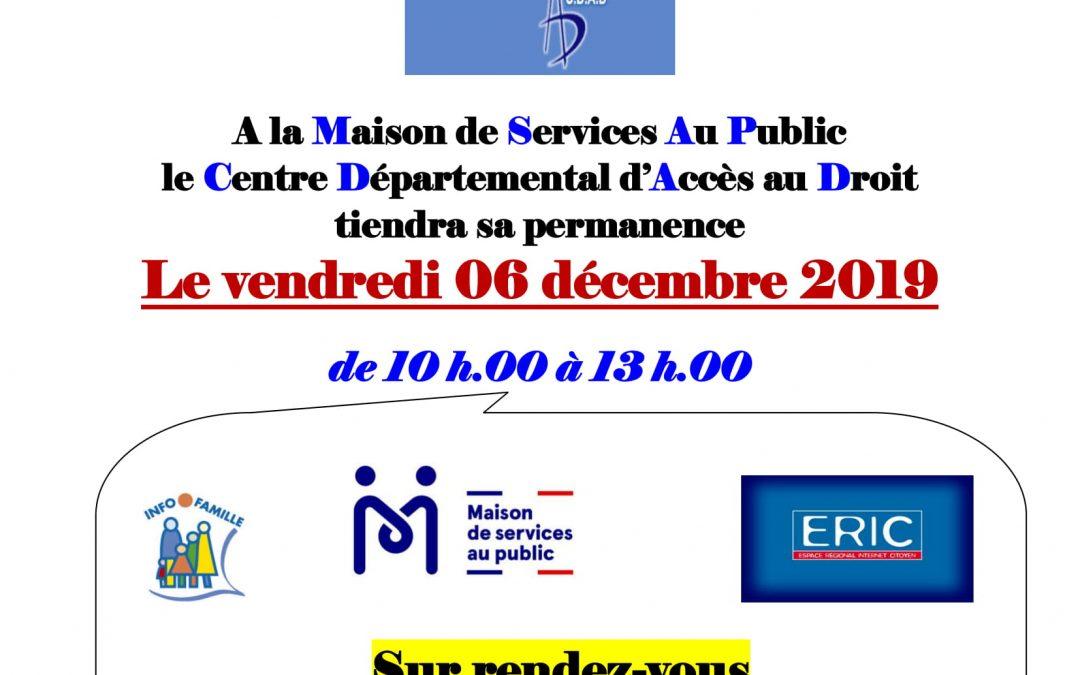 Consultations juridiques gratuites pour tous 06/12/19