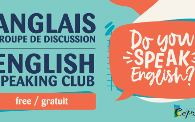 ANNONCE : Groupe de discussion en anglais