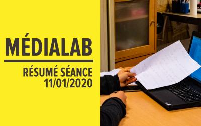 [Résumé] Séance MédiaLab – 11 janvier 2020 [FR/ENG]